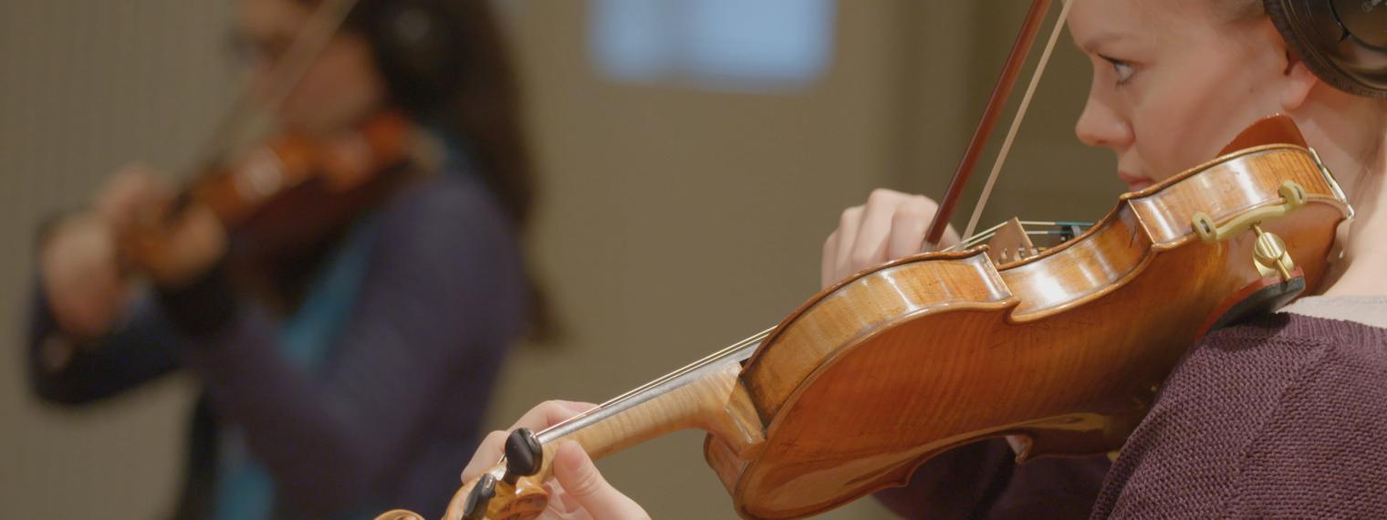 Woman Violin Image