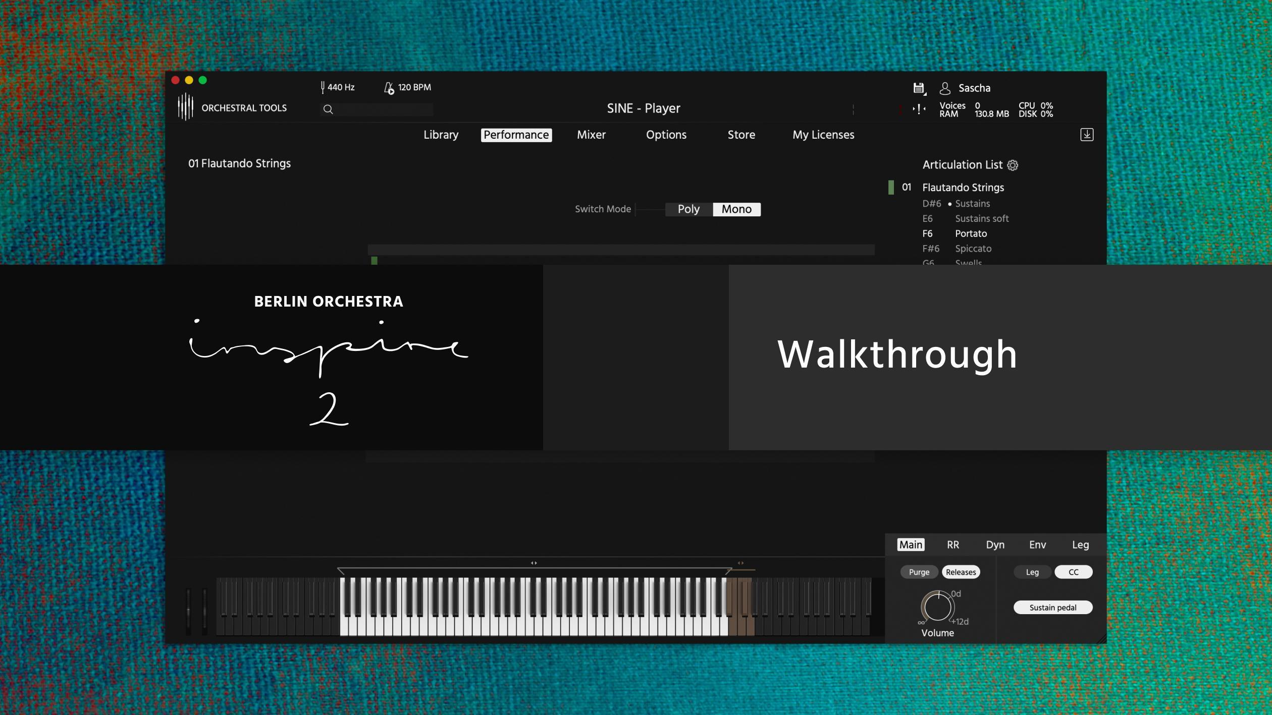 Berlin Orchestra Inspire 2 SINE walkthrough